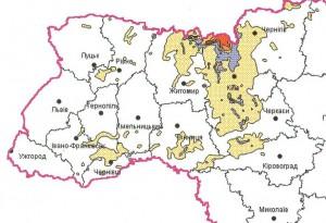 Strontium-90-Belastung in der West-Ukraine 1986 als Folge des Tschernobylunglücks
