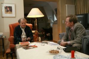 Gespräch mit Erich Loest, Leipzig 2006. Foto Yorck Maecke.