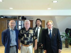 Interview mit Lech Walesa in Danzig 2012, mit Andrzej Stach und Fotograf Nikola Kuzmanic