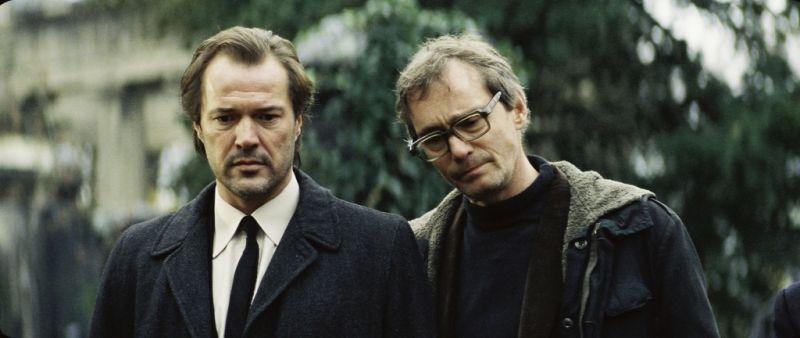 """Hans Uwe Bauer (rechts) mit Sebastian Koch in """"Das Leben der Anderen"""" 2006"""