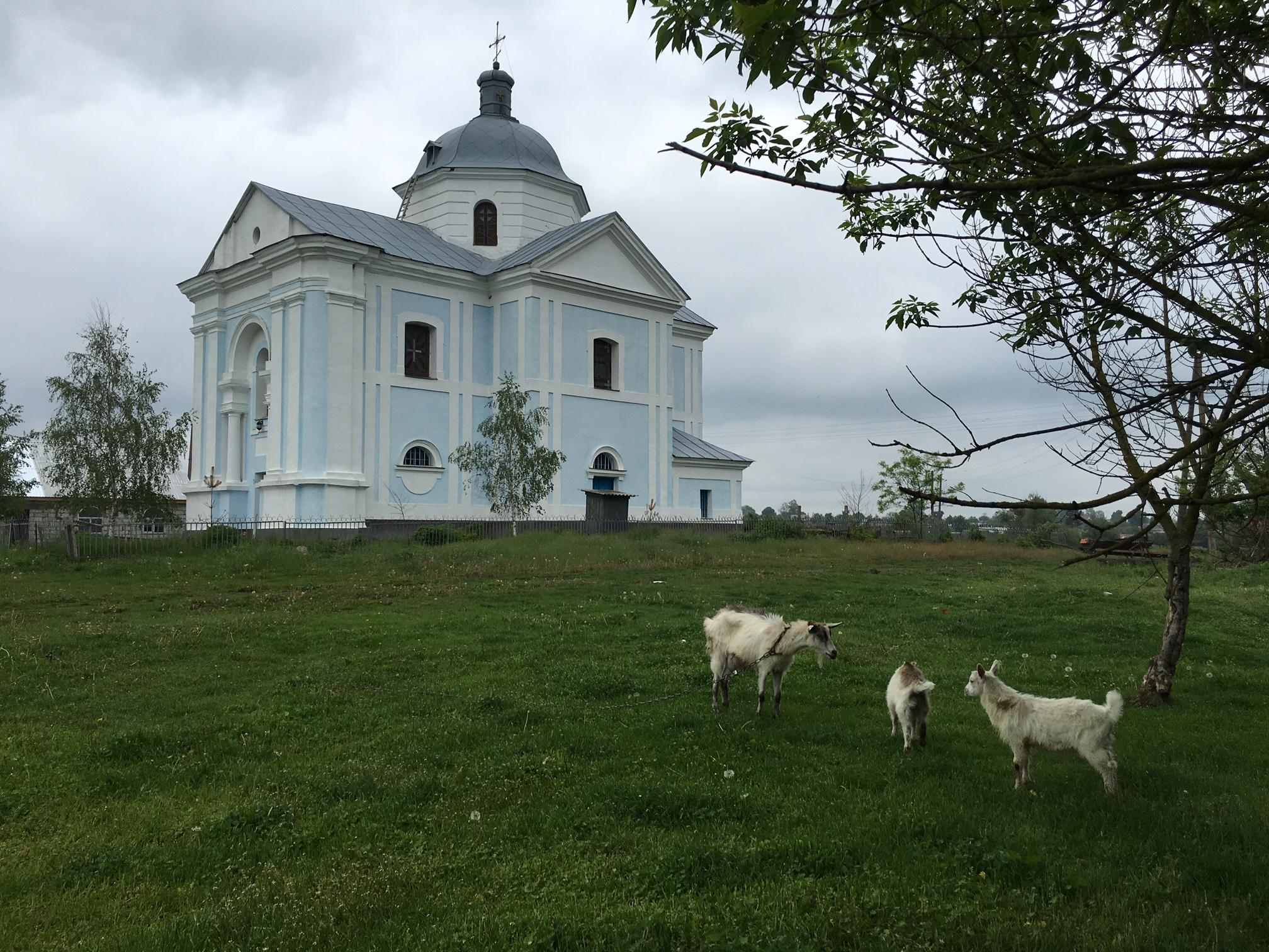 Die Barockkirche von Iwankiw im Schitomirer Gebiet (Ukraine)